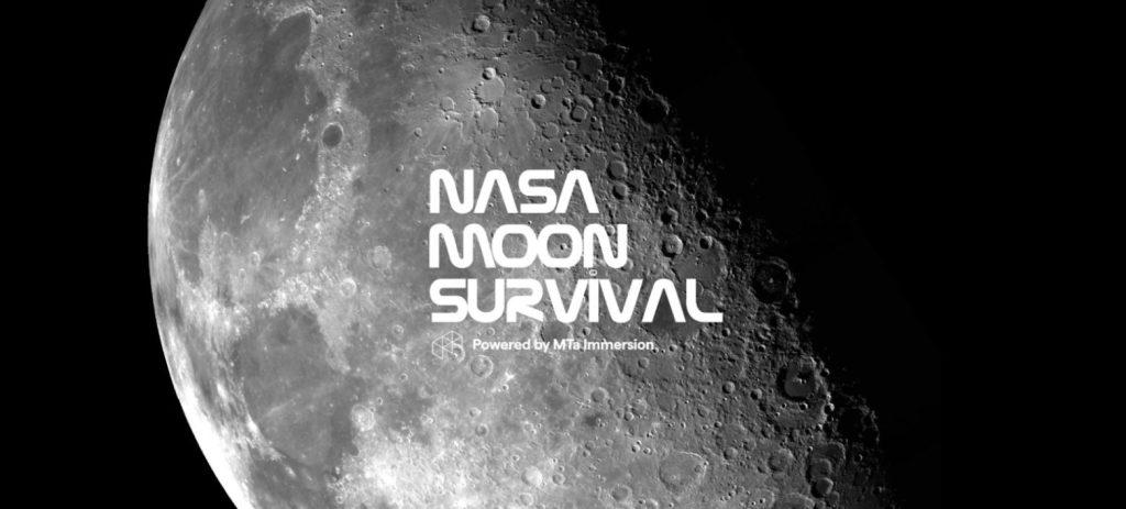 MTa Immersion NASA Moon Survival intro screen