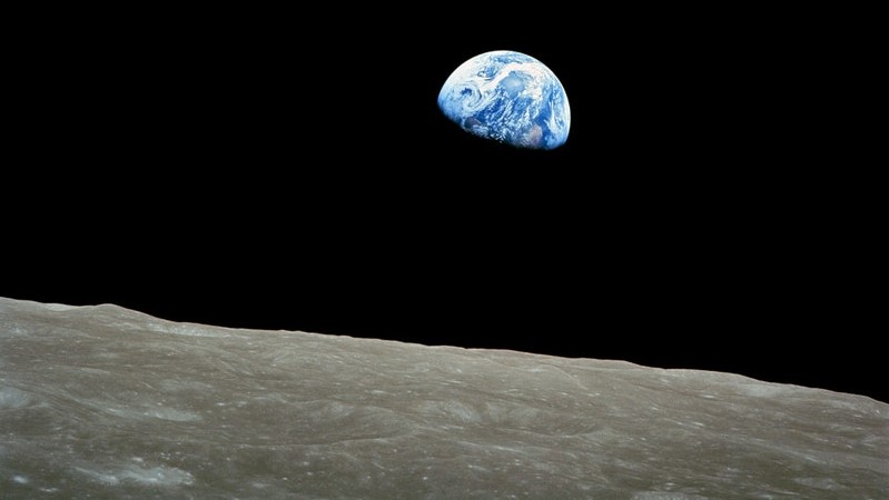 the earth visible from the moon